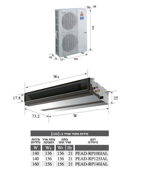 שונות מזגני מיצובישי מיני מרכזי מתועלים – אמ. מ.ק.מ. מיזוג אויר בע''מ OP-83